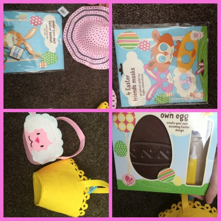 Easter crafts and treats at asda bizzimummy izebella looks incredibly cute in her little bunny ears whilst jordanna made her own special easter bonnet using the kit this is really easy to make negle Images
